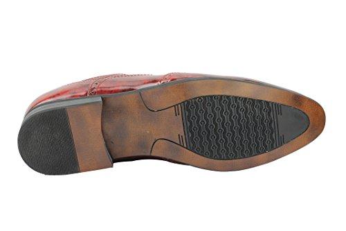 Xposed - Zapatos de Vestir hombre granate
