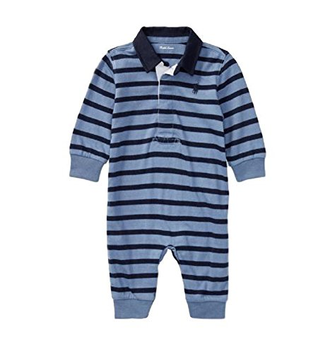 Baby Boys Ralph Lauren Striped Cotton Rugby Coverall (3 - Months Lauren 3 0 Ralph