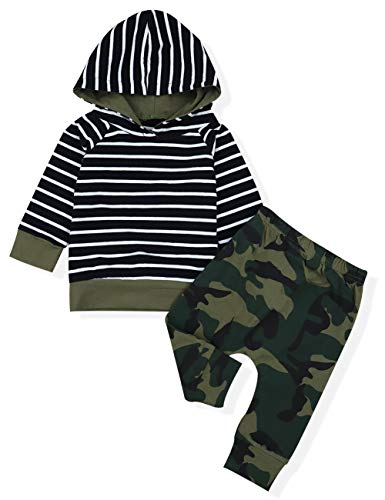 Newborn Baby Boy Clothes Sports Casual Camouflage Print Long Sleeve Hoodies Pants 2 Pcs Outfit Sets