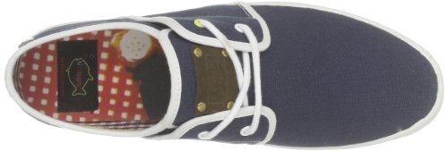 Fish 'N' Chips by Base London - Zapatillas de deporte de tela para hombre Azul (Bleu (Navy))