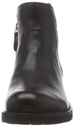 Geox D NEW VIRNA C - Botas de motociclista de cuero mujer negro - Schwarz (C9999BLACK)