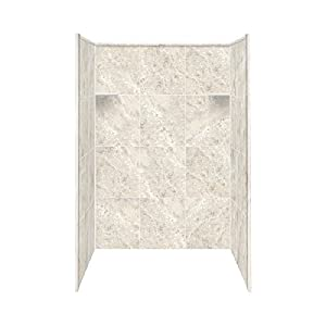 """Transolid RBE4867-92 48"""" x 36"""" x 72"""" Solid Surface Shower Wall Surround, Silver Mocha on sale"""