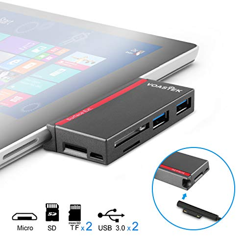 USB 3.0 HUB, VOASTEK 6 in 1 Surface Pro Hub Combo Adapter...