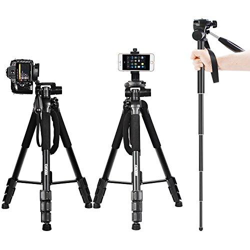 "70"" DSLR Camera Tripod Travel Monopod Lightweight Portable A"