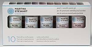 Martha Stewart Crafts Pearl & Metallic Acrylic Craft Paint Set (2-Ounce), 32310 (10 Colors)