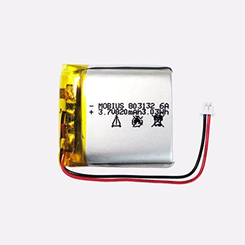 BrightTea Mobius new 3.7V 820mAh 3.03Wh Lithium Polymer rechargeable battery Li-ion Mobius 803132 for DV 1080P camera BPI Li-Po battery ()