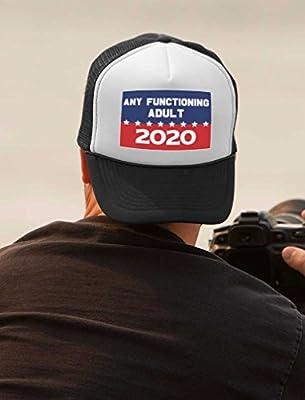 Tstars Funny 2020 Campaign Trucker Hat Any Functioning Adult Trucker Hat Mesh Cap