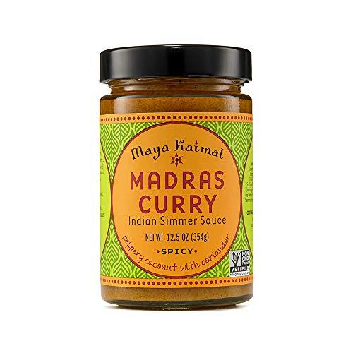 Maya Kaimal Madras Curry Indian Simmer Sauce, 12.5 Ounce, Medium