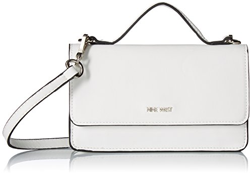 Nine West Crossbody with Top Handle Wallet, Optic White , One Size ()