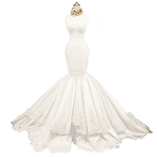 Yuxin Sweetheart Strapless Mermaid Lace Beading Bridal Wedding Dress