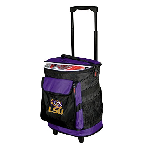 Logo Brands 162-57 NCAA  LSU Tigers Rolling Cooler - University Tigers Pocket