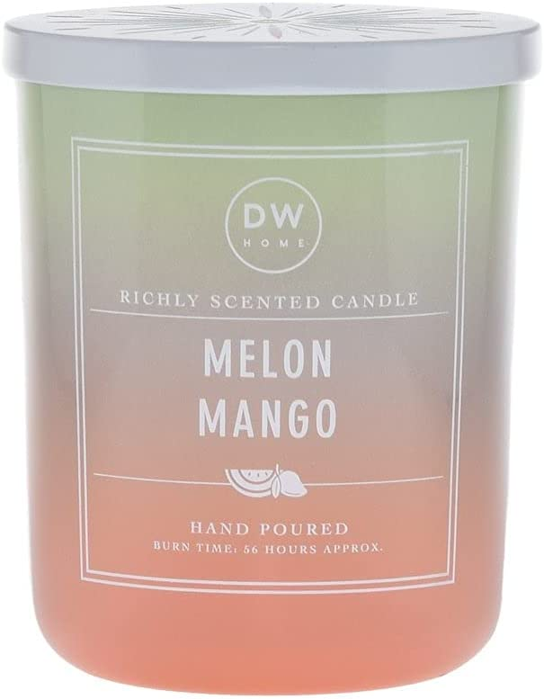 DW Home Hand Poured Richly Scented Melon Mango Large Double Wick Candle