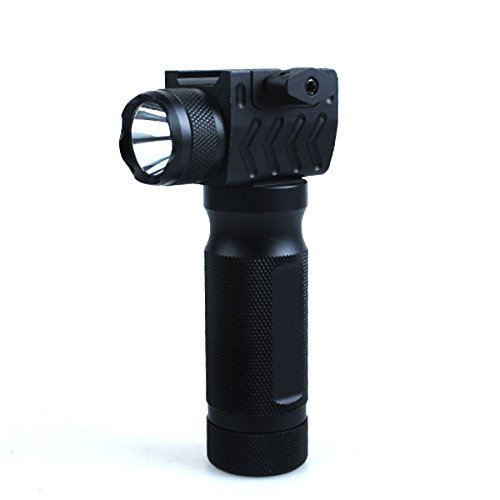 Stinger® Tactical All Aluminum Heavy Duty Construction Forward-Grip with Built-in 220 Lumens LED Flashlight (Batteries Included) Sniper Series for Rifle Shotgun Picatinny Weaver Systems