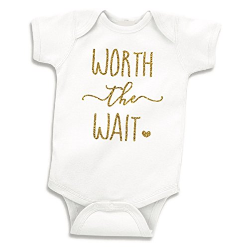 Baby Girl Clothes, Newborn Girl Bodysuit Worth the Wait (0-3 ()