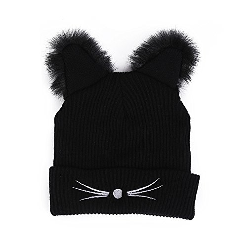 DongDong ♫2018 Fashion Hat, Lady's Cat Ear Embroidered Knitted Cap -