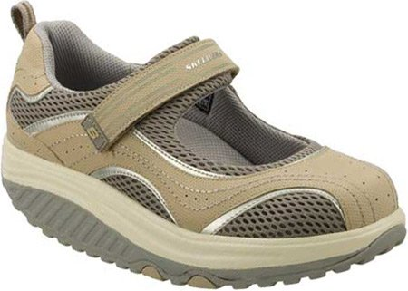 Skechers Shape-ups Sleek Fit - Zapatillas tonificadoras Estilo Merceditas para Mujer: Amazon.es: Zapatos y complementos