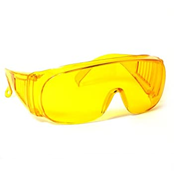 Calabria 1003 Large Fit-Over Safety Glasses UV Protection in Yellow