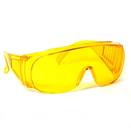 Calabria 1003 Large Fit-Over Safety Glasses UV Protection in Yellow ()