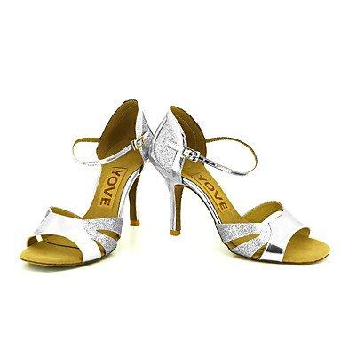 Latino Personalizado Rojo sliver Zapatos Salsa Negro Azul Plata de Oro Tacón Personalizables baile xw7TIqP70