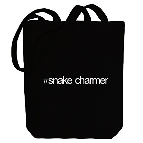 Hashtag Occupations Bag Snake Canvas Tote Idakoos Hashtag Charmer Idakoos RaOO16
