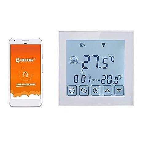 Beok TDS23WIFI-EP Termostato Digital Programable Para Calefacción Eléctrica Debajo Del Piso, Control De