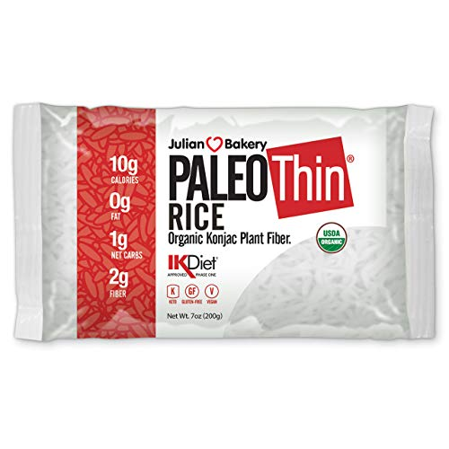 Organic Paleo Thin Rice (6 Bags) Low Carb, Keto, Gluten-Free, Vegan (Plant Based)