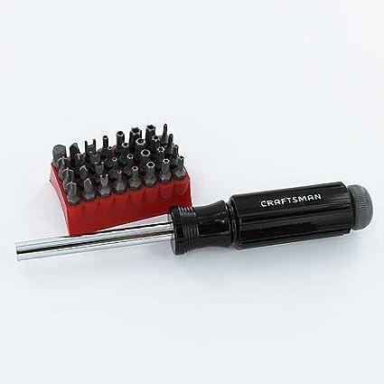 Craftsman 33 pc. Juego de brocas destornillador punta de aguja con ...