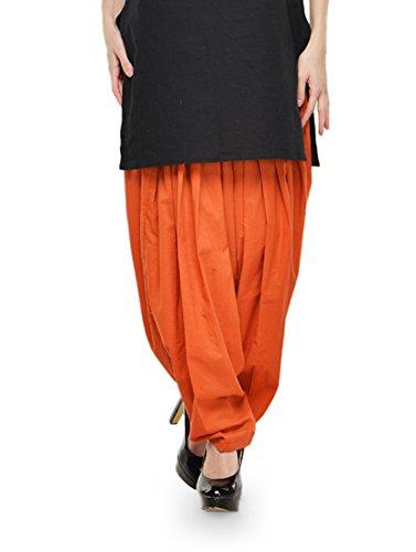 Stylenmart Rust Cotton Ethnic wear Full Patiala (Rust Salwar)