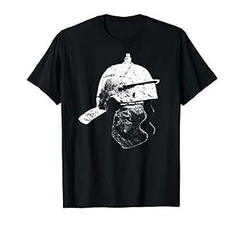 83bd07b7 Amazon.com: Mens Ancient Roman Legionnaire Helmet Distressed T-Shirt ...