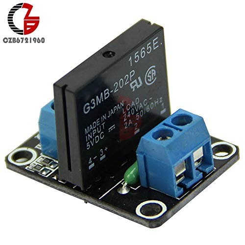 Board Inlet Charger (Electrical Equipments Dc 5V 2A 1 Channel Ssr Solid State Relay Module High Level Trigger Board With Resistive Fuse G3Mb-202P Ac 240V Diy)