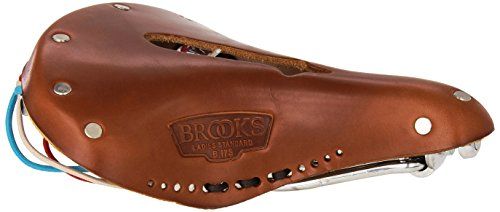 Imperial Saddle - Brooks Saddles Imperial B17 S Standard Bicycle Seat with Holes and Laces, Honey