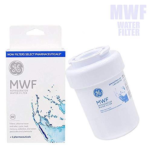 GE MWF Smart Refrigerator Genuine Water Filter Cartridge, General Electric Replacement Fridge Water Filter, 1-Pack.