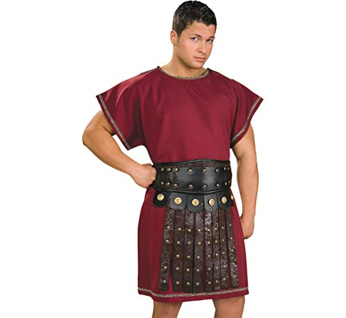 Amscan Spartan Tunic Halloween Costume Accessory for Men, Burgundy, One Size