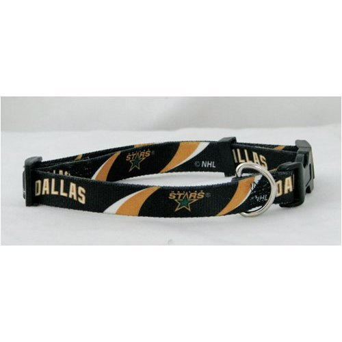 "Hunter 5/8"" Dallas Stars Adjustable Pet Collar, Small"
