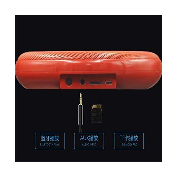 Haut-Parleur Bluetooth Portable Voyage extérieur étanche sans filHaut-Parleur Bluetooth stéréo Real Sound Rouge 175mmx175mmx37mm 7