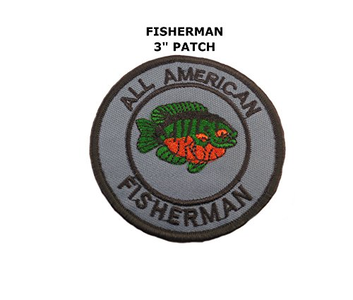 [Fishing - All American Fisherman Iron / Sew-on Embroidered Patch By Superheroes] (The Wolverine Alternate Costume)