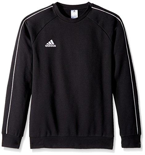 adidas Unisex Youth Soccer Core18 Sweat Top, Black/White, Medium