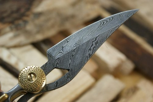 Knife King ''Baby Blue'' Custom Damascus Handmade Folding Knife. Comes with a sheath. by Knife King (Image #3)