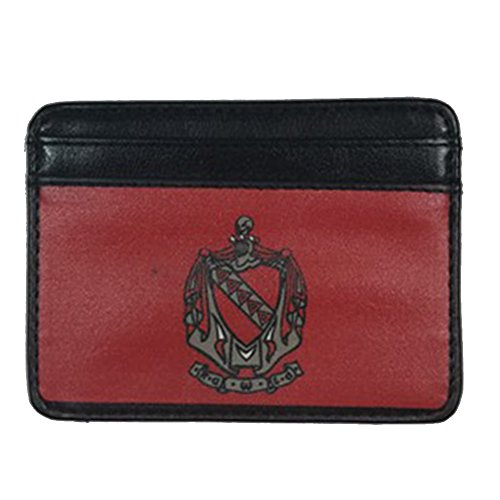 Tau Kappa Epsilon TKE Slim Wallet for Men Top Grade Leather Full Color Fraternity Crest with Four Slots for Credit Cards Wallet Has a Clear Slot for ID Spot for - Outlet Premium Springs Palm