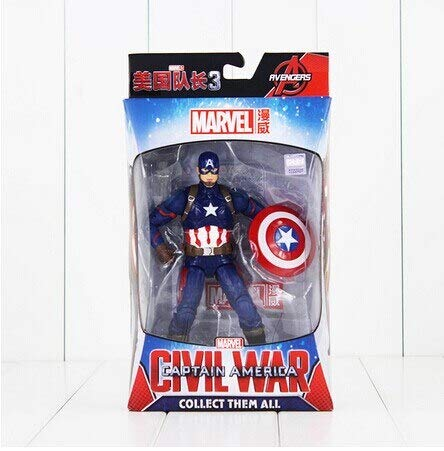 18Cm Civil Man Winter Solider Falcon PVC Figure Toy -Multicolor Complete Series Merchandise -