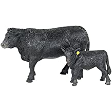 Big Country Toys Angus Cow & Calf - 1:20 Scale - Hand Painted - Farm Toys - Farm Animal Toys