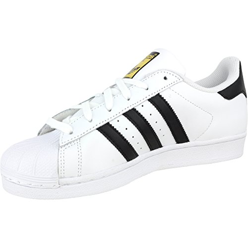 adidas Originals Women's Superstar W Fashion Sneaker, White/Black/White, 5.5 M US