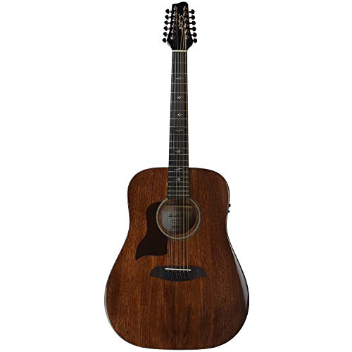 Sawtooth Mahogany Series Left-Handed 12-String Solid Mahogany Top Acoustic-Electric Dreadnought Guitar - Left Handed 12 String