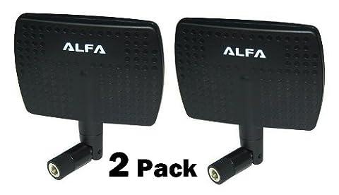 Alfa 2.4HGz 7dBi RP-SMA Panel Screw-On Swivel Antenna for Alfa Netwrok Adaptors - Also Works for 3DR Solo Drone, DJI Phantom 3 Drone, Yuneec Typhoon H ST16 Controller, adds Range