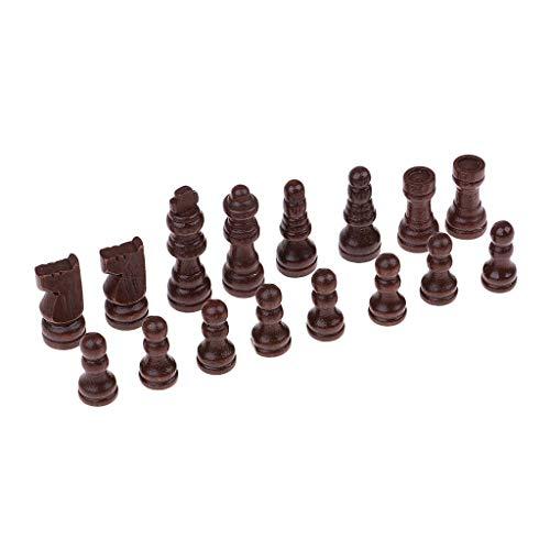 [해외]B Blesiya 16Pcs 나무로 되는 체스만 체커 체스 조각 51mm 왕 용 초안 장난감 게임 / B Blesiya 16Pcs Wooden Chessman Checkers Chess Pieces 51mm King for Draughts Toy Games