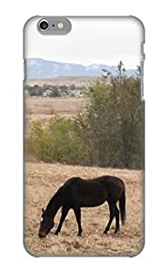 Inthebeauty Tpu Case For Iphone 6 Plus With Animal Horse Black Field Pastoral, Nice Case For Thanksgiving Day's Gift