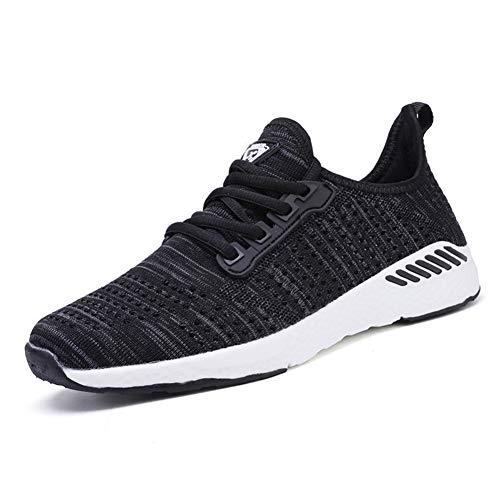 🥇 Decai Mujeres Zapatillas de Deportivos de Running para Mujer Gimnasia Ligero Sneakers Malla Transpirable con Cordones Zapatillas Deportivas para Correr Fitness Atlético Caminar Zapatos