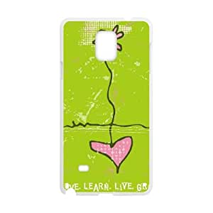 Samsung Galaxy Note 4 Cell Phone Case White_Love.Learn.Live.Grow Uythx