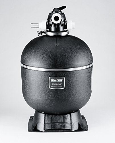 Sta-Rite 145362 Cristal-Flo  II Top Mount High Rate Sand Pool Filter, 3.15 Square Feet, 70 GPM, with Multiport Valve