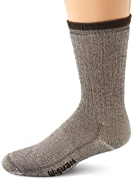 Wigwam Men\'s Merino Wool Comfort Hiker Crew Length Sock,Charcoal,Large